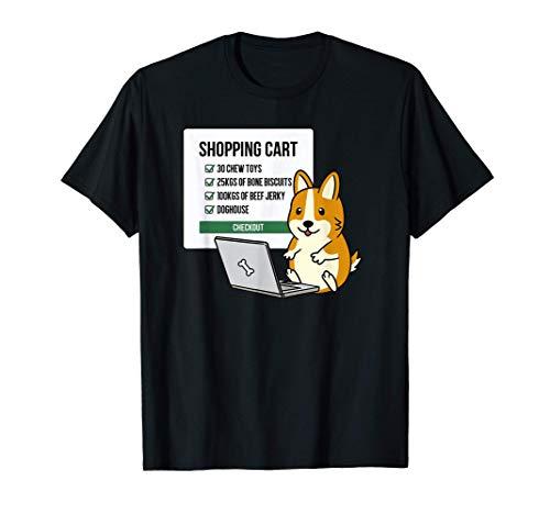 ショッピングカートウェルシュ・コーギー・ペンブローク犬 Tシャツ
