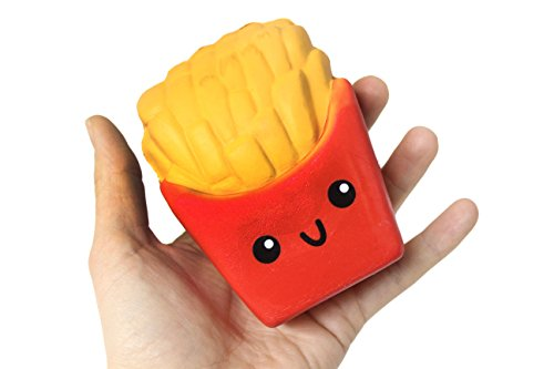 Curious Minds Busy Bags Large French Fries Squishy Slow Rise Junk Food Face - Sensory Stress Fidget Toy