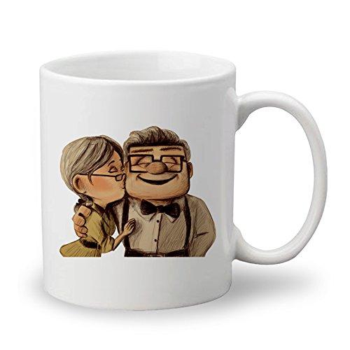 Disney Pixar Carl y Ellie up películas Custom taza de café y té