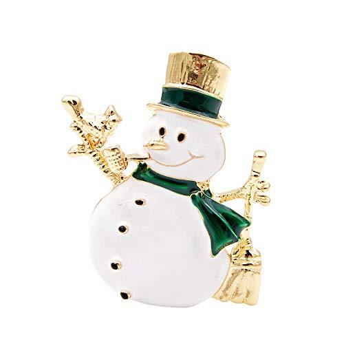 Broche Brillante Muñeco De Nieve Encantador con Broches Actuales para Mujeres Y Hombres Navidad Imprescindible Sombrero Dorado Abrigos Accesorios Joyería