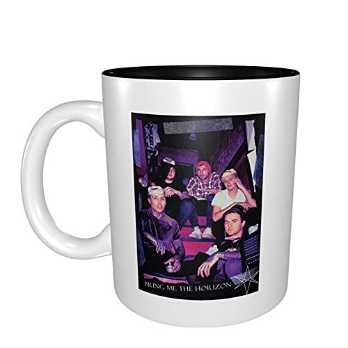 N\A Bring Me The Horizon Taza de café/Taza de té/Taza Taza Tazas Divertidas y duraderas de Color de Contraste Regalos Divertidos para Hombres y