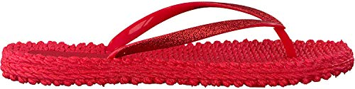 Ilse Jacobsen Damen Glitzer Flip Flop, CHEERFUL01 Zehentrenner, Rot (Tief Rot), 37 EU