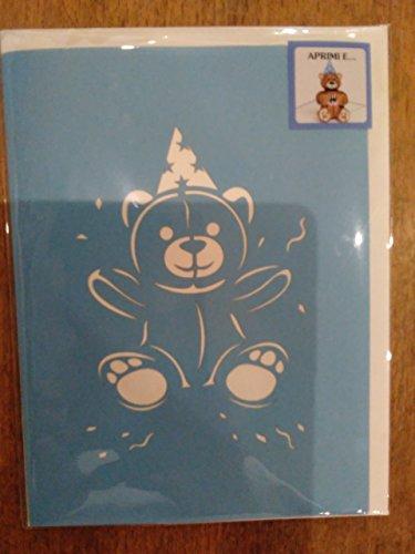 Biglietto di auguri pop up orso azzurro