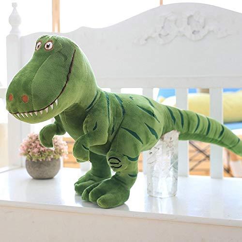 ThuyDM Shop Dinosaur Plush Big Size 100cm New Dinosaur Plush Toys Cartoon Tyrannosaurus Cute Stuffed Toy Dolls for Kids Children Boys Birthday Gift-Green-55cm