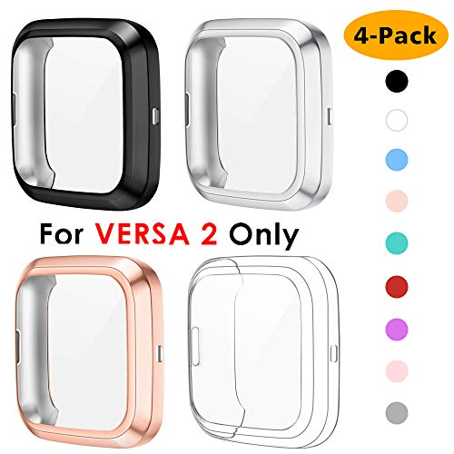 NANW 4-Pack Screen Protector Compatible with Fitbit Versa 2, TPU...