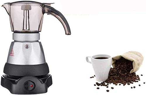 Máquina de café Shisyan Máquina de café,150-200 ml de café de la máquina automática portátil cafetera eléctrica Herramientas de acero inoxidable Espresso Mocha Cafetera Inicio de cocina for Ministerio