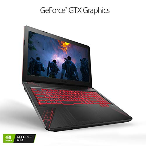 ASUS TUF Thin & Light Gaming Laptop PC (FX504) 15.6 Full HD, 8th-Gen Intel Core i5-8300H (up to 3.9GHz), GeForce GTX 1050 2GB, 8GB DDR4 2666 MHz, 1TB FireCuda SSHD, Windows 10 64-bit - FX504GD-ES51