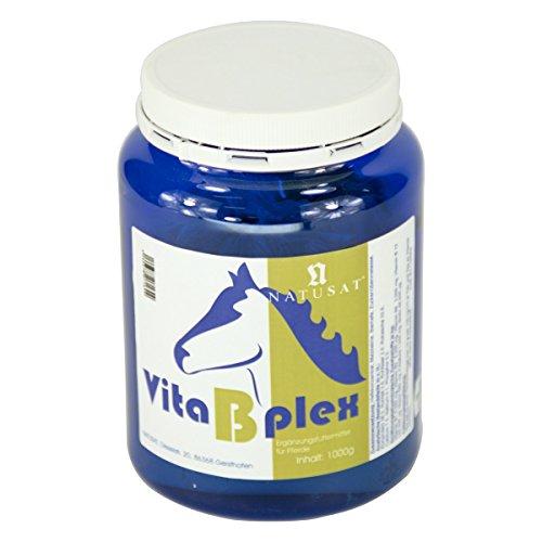 Natusat Vita B Plex Pulver 1000 g - Vitamin B - Ergänzungsfutter für Pferde