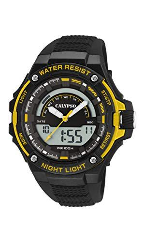 Calypso Watches Reloj Analógico-Digital para Hombre de Cuarzo con Correa en Plástico K5768/4