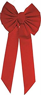 Rocky Mountain Goods Red Bow - Christmas Wreath Bow - Great for Large Gifts - Indoor/Outdoor use - Hand Tied in USA - Waterproof Velvet - Attachment tie Included for Easy Hanging (20-inch)
