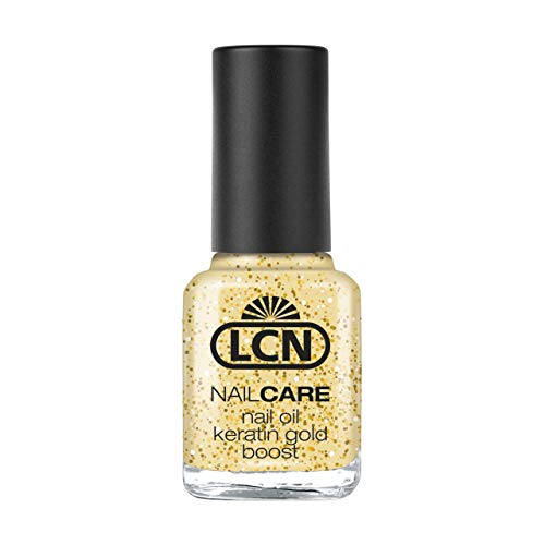 LCN Nail Oil Keratin Gold Boost 8ml - verleiht den Nägeln Elastizität, Spannkraft und Glanz, das Wachstum wird gefördert.