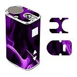 Decal Sticker Skin WRAP Purple Smoke for Eleaf iStick 10W Mini
