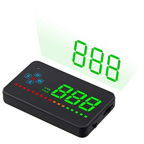Antion ヘッドアップディスプレイ HUD 後付け GPS連動 車載スピードメーター 時速表示 過速度警告 輝度調節可 日本語説明書