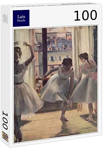 Puzzle Edgar Germain Hilaire Degas   Tres Bailarines en una Sala de Ejercicios 100 Piezas
