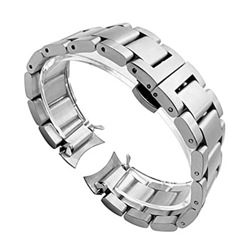 ZRNG Bandeja de Mariposa de Acero Inoxidable Reloj de Reloj para Samsung Gear S3 Classic Frontier Watch Smart Wrist Strap Strap Link Brazalet + Herramienta (Band Color : Silver)