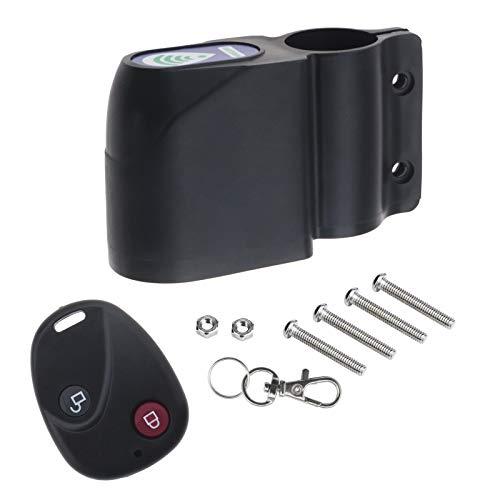 Bicicleta Control remoto antirrobo alarma antirrobo negro alarma inalámbrica sirena choque vibración sensor ciclismo bloqueo con tornillo accesorios