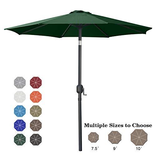 ABCCANOPY 9' Patio Umbrella Table Market Umbrella with Push Button Tilt for Garden, Deck, Backyard and Pool, 8 Ribs 13+Colors,Light Gray