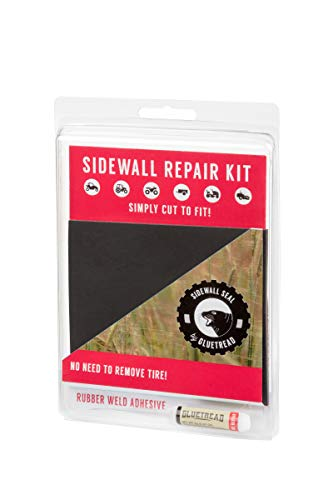 GlueTread Sidewall Repair Kit - Patch Sidewall of Your Tire - Kit Includes (1) 4'x4.5'x3/16 Patch,...