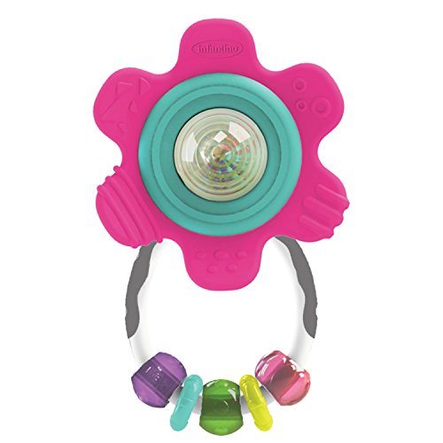 Buy Discount Infantino Spin & Teethe Gummy Flower Rattle
