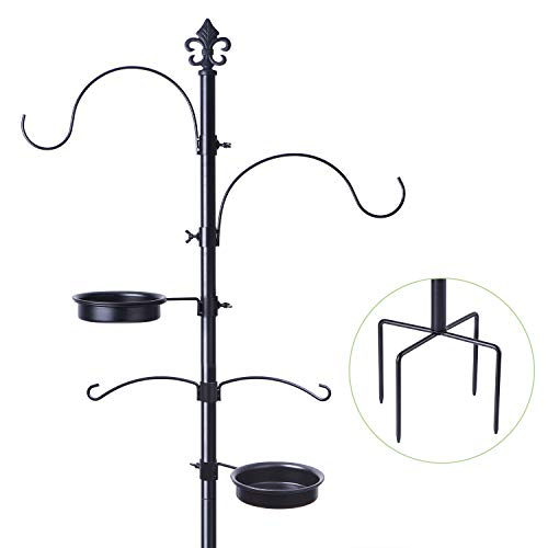 BOLITE 18014 Bird Feeding Station for Outdoors, Bird Feeder Pole Stand for Outside, Improved Version