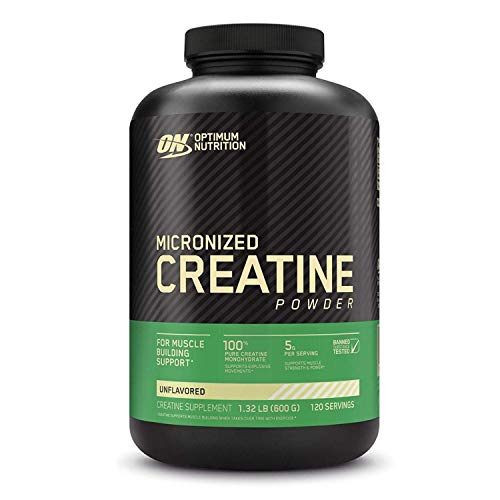 120 servings (Packaging Can Vary, by Glanbia Performance Nutrition): Optimal Nutrition Micronized Creatine Monohydrate Powder, Unflavored, Keto Friendly
