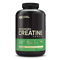 Optimum Nutrition Micronized Creatine Monohydrate Powder, Unflavored, Keto Friendly, 120 Servings (P