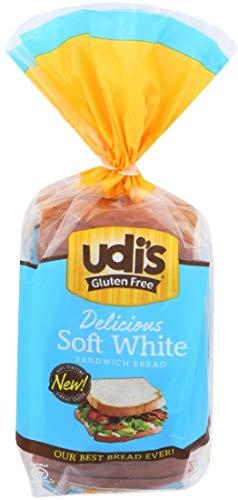 Udis Granola Gluten Free White Sandwich Bread Loaf, 12 Ounce -- 8 per case.