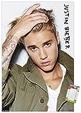 Trends International Justin Bieber - Eyes Wall Poster, 22.375' x 34', Premium Poster & Mount Bundle