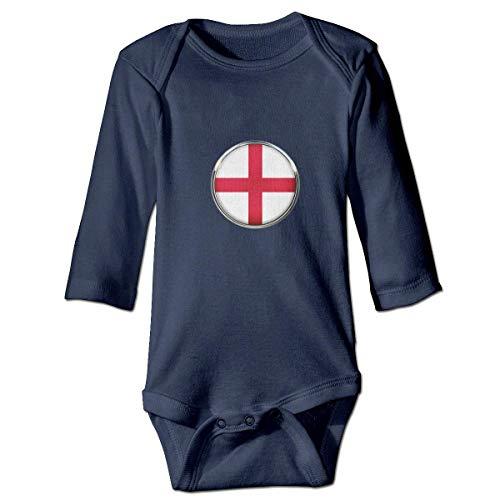 Klotr Barboteuse Bébé, England Unisexe Combinaison Pyjamas Coton Grenouillère Manches Longues Body