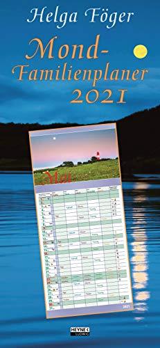 Mond-Familienplaner 2021: Wandkalender 22,4 x 48,5 cm