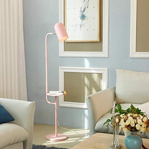 Koper Modern Living Room Sofa Verticaal Kleine Desk LED Bedroom Study Room Drop Rack Staande Lamp zonder Bollen Simple Creative Decoration Floor Lamp (Color : Pink)