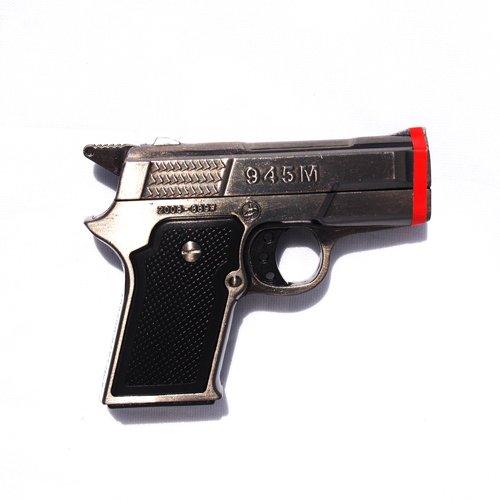 1x Black Pistol Twin Torch Lighter Refillable Cigar Cigarette Lighter