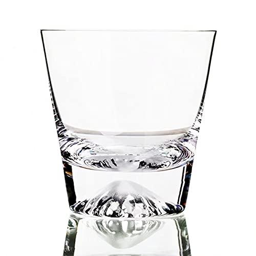 Copa de vino creativo Japón Fujisan Snow Mountain Cristal puro Whisky Montar Fuji Snowberg Ice Cake Rock Cup Whisky Copa de vino