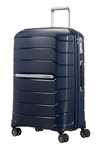 Samsonite Flux - Spinner M Expandable Suitcase, 68 cm, 85 L, Blue (Navy Blue)