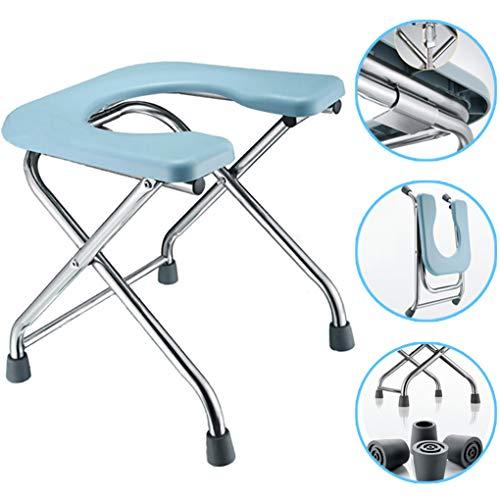 XH-Chair Bad Toilette Stuhl Duschsitz mit Hygieneausschnitt, faltbar und tragbar Geeignet für ältere Menschen, um Gewichte bis zu 330 Pfund zu tragen