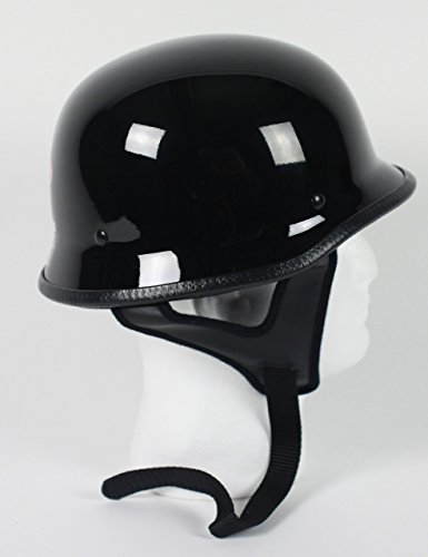 Rodia Gloss Black German DOT Motorbike Scooter Motorcycle Helmet XS S M L XL 2XL 3XL (3XL)