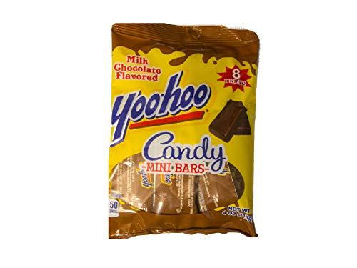 Palmer (1) Bag Yoohoo Candy Mini Bars - Milk Chocolate Flavored Candies - 8 Individually Wrapped Treats per Bag - Net Wt. 4 oz