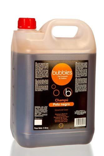 Unbekannt Bubbles Champú para perros Pelo Negro con extracto de cacao para la variante de pelo oscuro (volumen), bidón de 5 litros