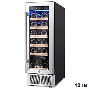 BODEGA 12″ Wine Cooler, Built-in or freestanding Wine Refrigerator...