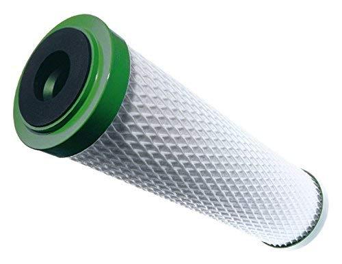 """Carbonit Wasserfilter Filterpatrone, Aktivkohle Monoblockfilter, weiß/grün, Außendurchmesser 60 mm, Länge 9 3/4\"""" BZW. 20\"""""""