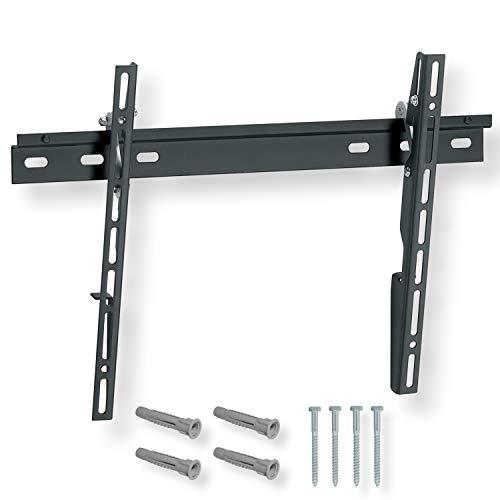 NANOOK Supporto TV a muro inclinabile per televisore 32-55 pollici | Inclinazione | Soluzione di montaggio per televisori LCD, LED e OLED | Compatibilità universale | VESA 100x100 - 400x400 | Nero