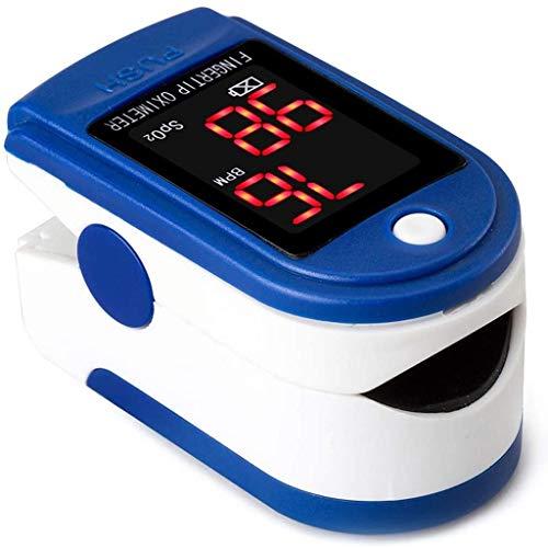 LTLCBB Pulsoximeter Fingertip, Blutsauerstoffsättigung Monitor für Pulsfrequenz und Sauerstoffsttigung, Fingerpulsoximeter mit LED-Display und One-Touch Bedienung, Einschließlich Lanyard