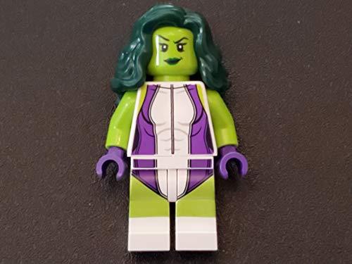 LEGO Marvel Super Heroes Green She Hulk Minifigure from Set 76078