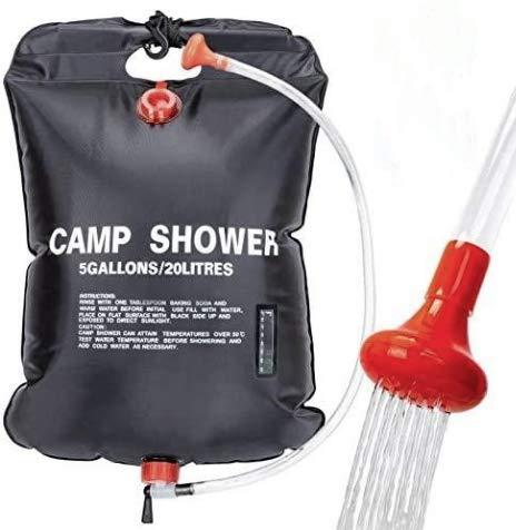 VIGLT Portable Shower Bag for Camping 5 gallons/20L Solar Shower...