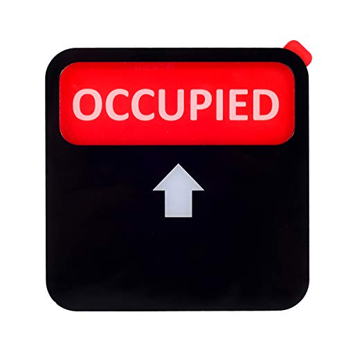 Kichwit Vacant Occupied Sign, Privacy Sign for Offices or Homes (Black, 3.5 Inch)
