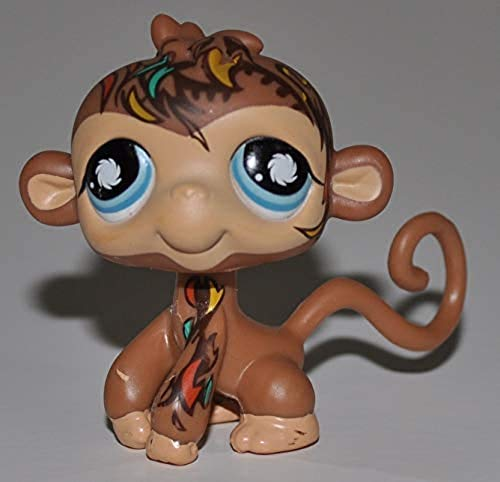 Monkey #946 (Blue Eyes, Tattoos on Head and Arm) - Littlest Pet Shop (Retired) Collector Toy - LPS Collectible Replacement Figure - Loose (OOP Out of Package & Print)