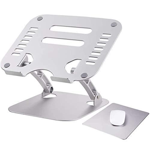 Soporte Laptop Ajustable, Soporte Ergonómico de Aluminio para Ordenador Portátil, Soporte Elevado con Ventilación de Calor, Compatible con 11-17' Computadora Portátil, Plateado