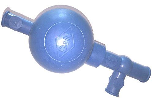 PELEUSBALL Pipettierball ca 10 ml klein Naturkautschuk (standard - 10ml Pipetten, blau)