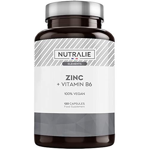 Zink Hochdosiert, Pure und Vegan | Antioxidans und trägt zu einer Normalen Immunsystems bei dank Zinkcitrat und Vitamin B6 | 120 Vegetarierkapseln Nutralie