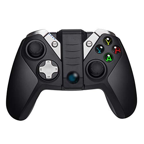 WXLSQ Manette sans Fil Bluetooth Gamepad sans Fil 2.4G Joystick, Manette De Jeu Poignée Extensible De Jeu Portable pour Téléphone Android PC PS3 De Windows 10/8.1/8/7
